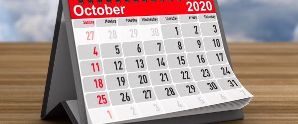 calendar-for-october-2020-standing-on-a-wooden-table